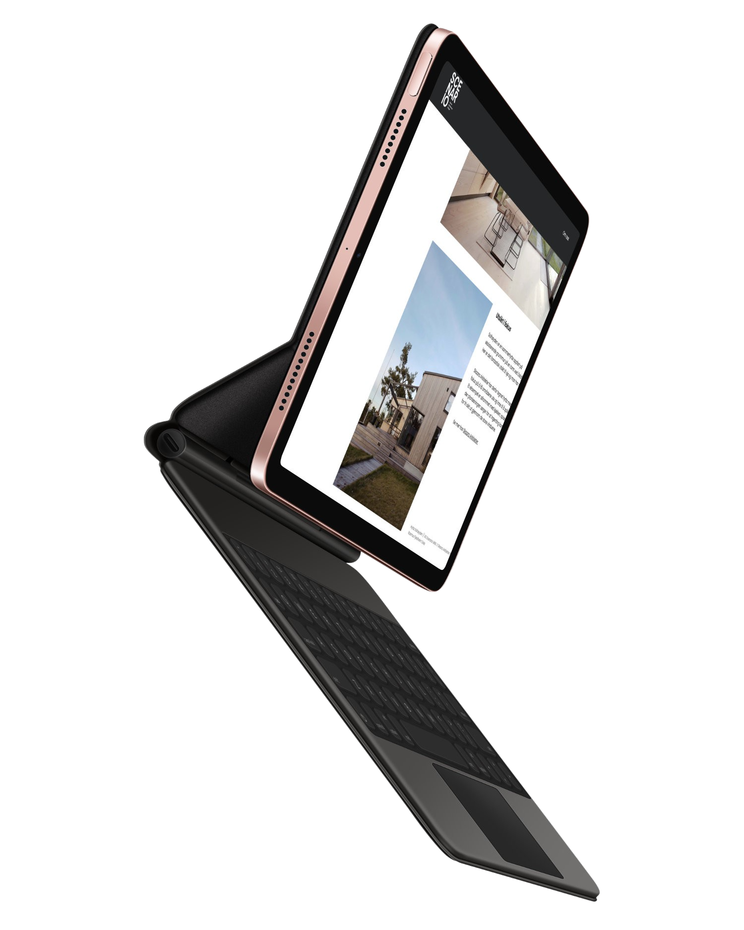 Scenario webside vist på tablet