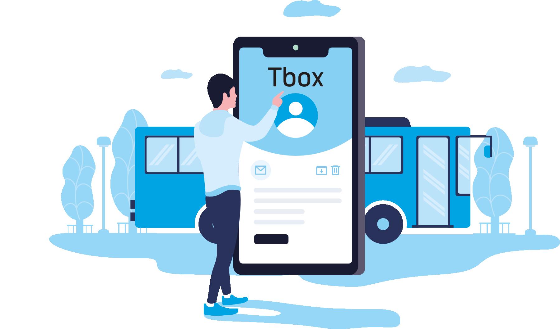 """Telenor TBOX illustrasjon """"på hytta"""""""