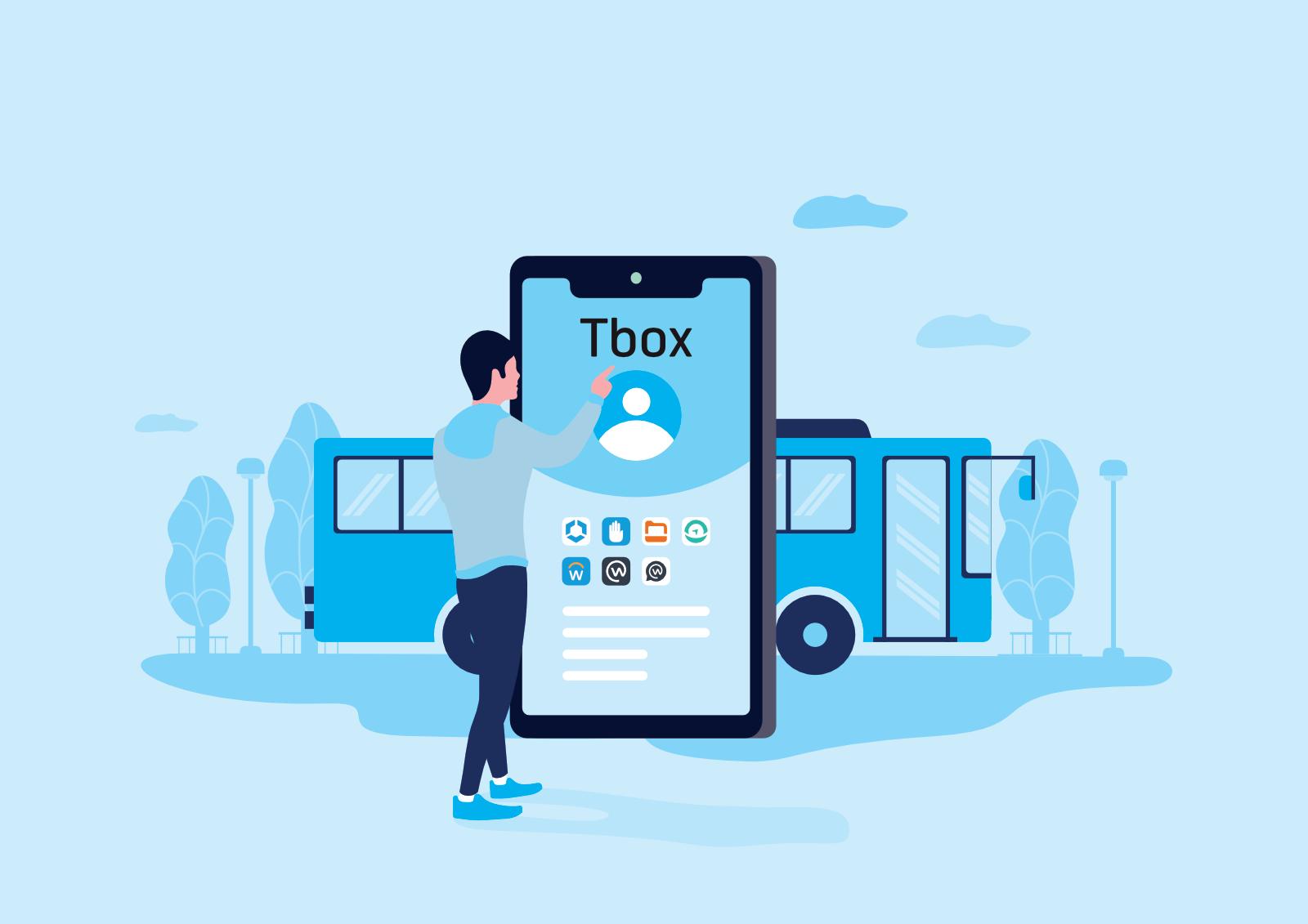 Telenor TBOX illustrasjon forside (buss)