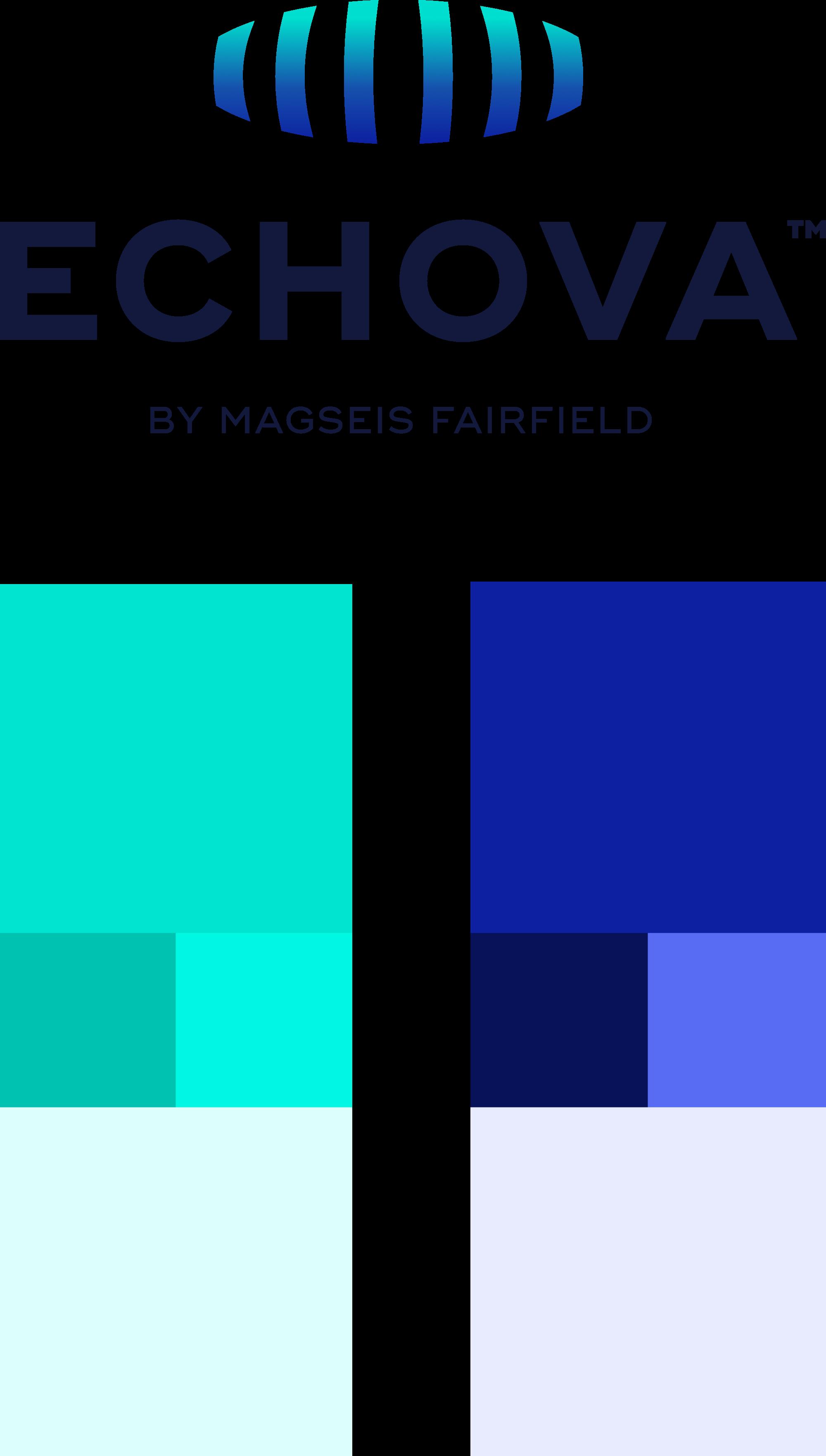 Echova logo og fargepalett