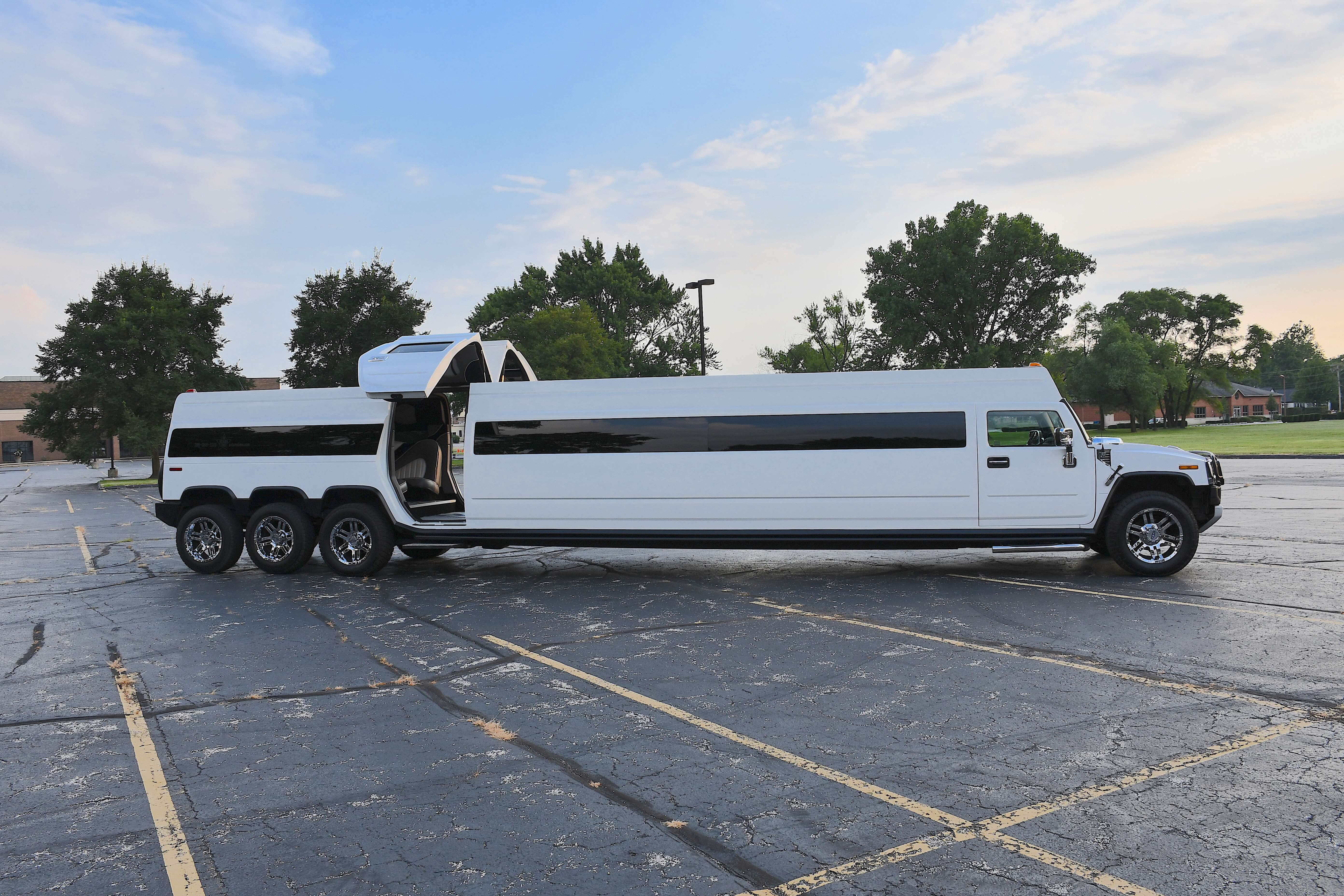 Hummer limo provided by A Stars Limo