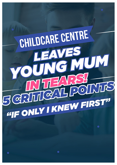 E-book, young mum in tears