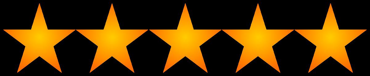 Row of 5 orange stars