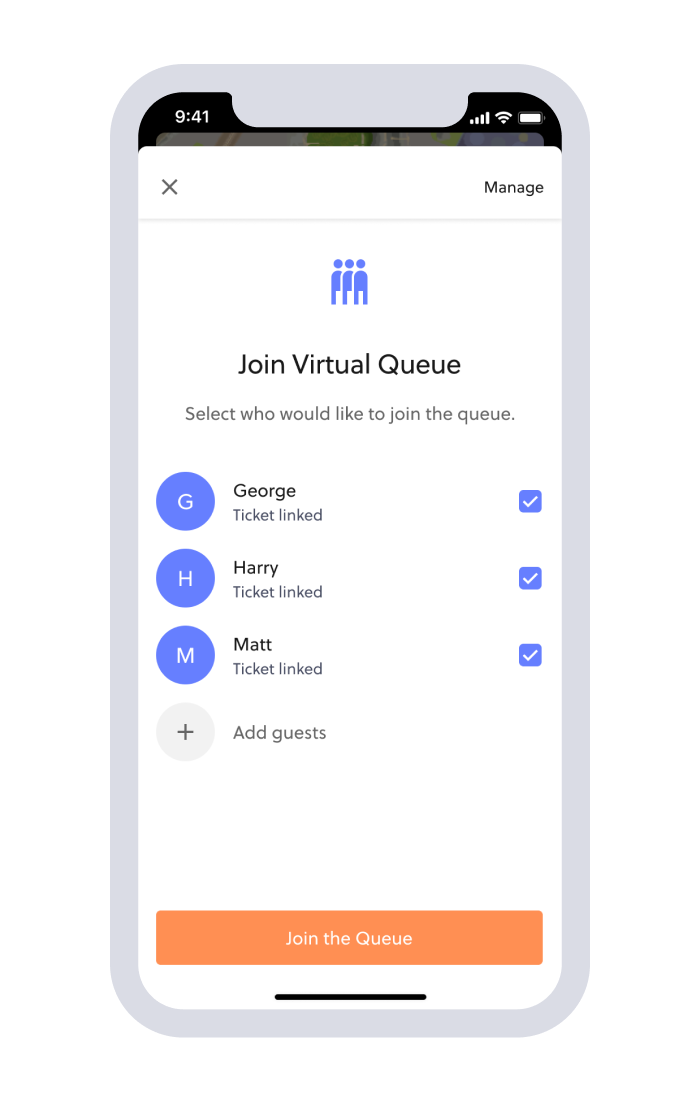 virtual queue app validation