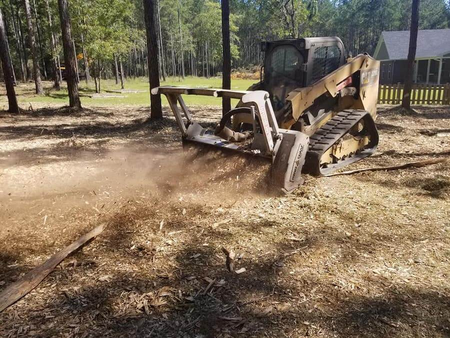 Some of our residential lot clearing services in Lakeland, FL