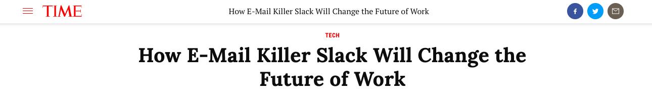 time magazine slack article