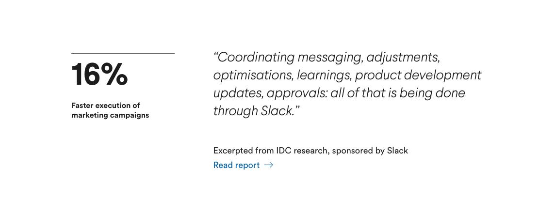 slack case study for marketing teams