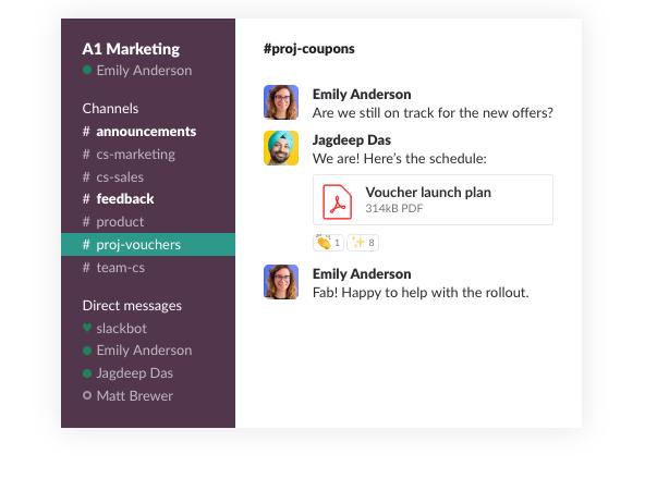 Slack UI design