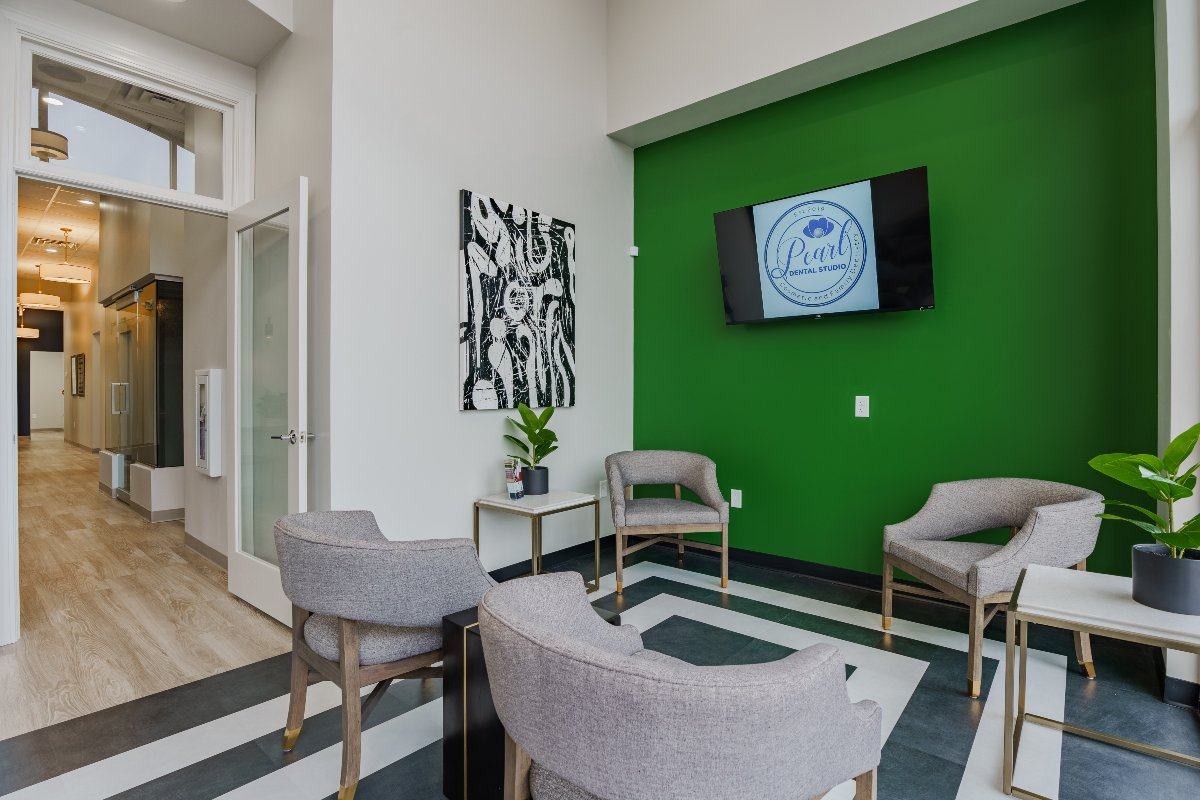 Waiting room at Pear Dental Studio