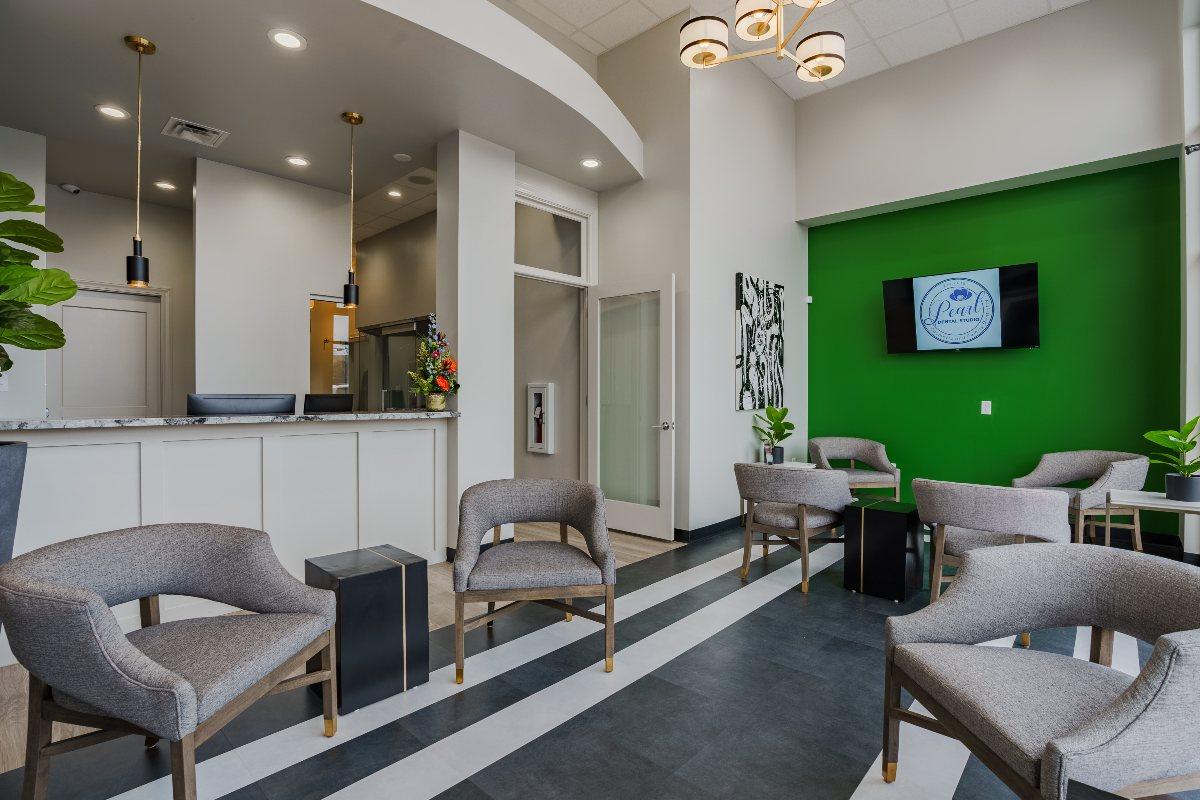 Waiting room at Pearl Dental Studio