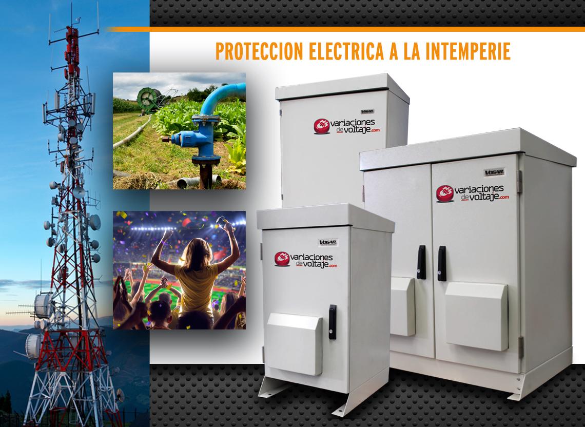 protección eléctrica ante variaciones de voltaje a la intemperie con Acondicionadores de Voltaje