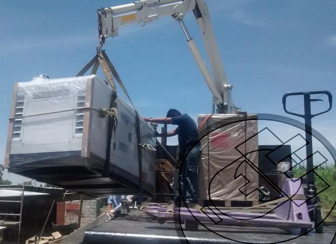 maniobras e instalación para entrega de equipo a renta