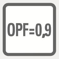 Factor de Potencia de salida = 0,9