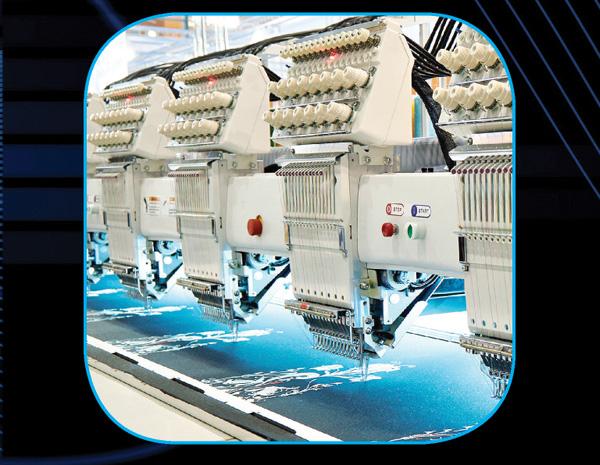 electro protección a bordadoras en industria textil