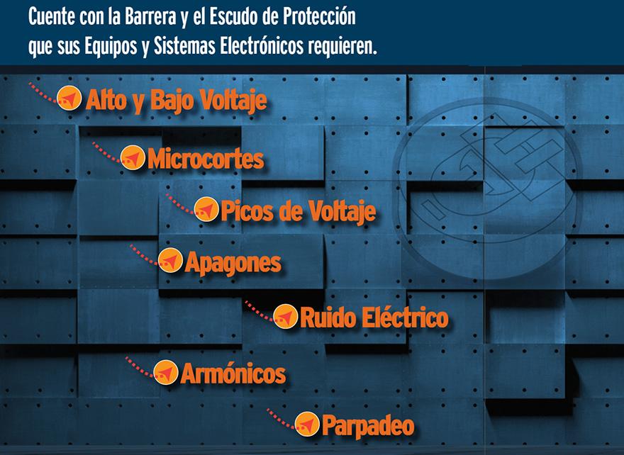 barrera de protección contra las principales Variaciones de Voltaje