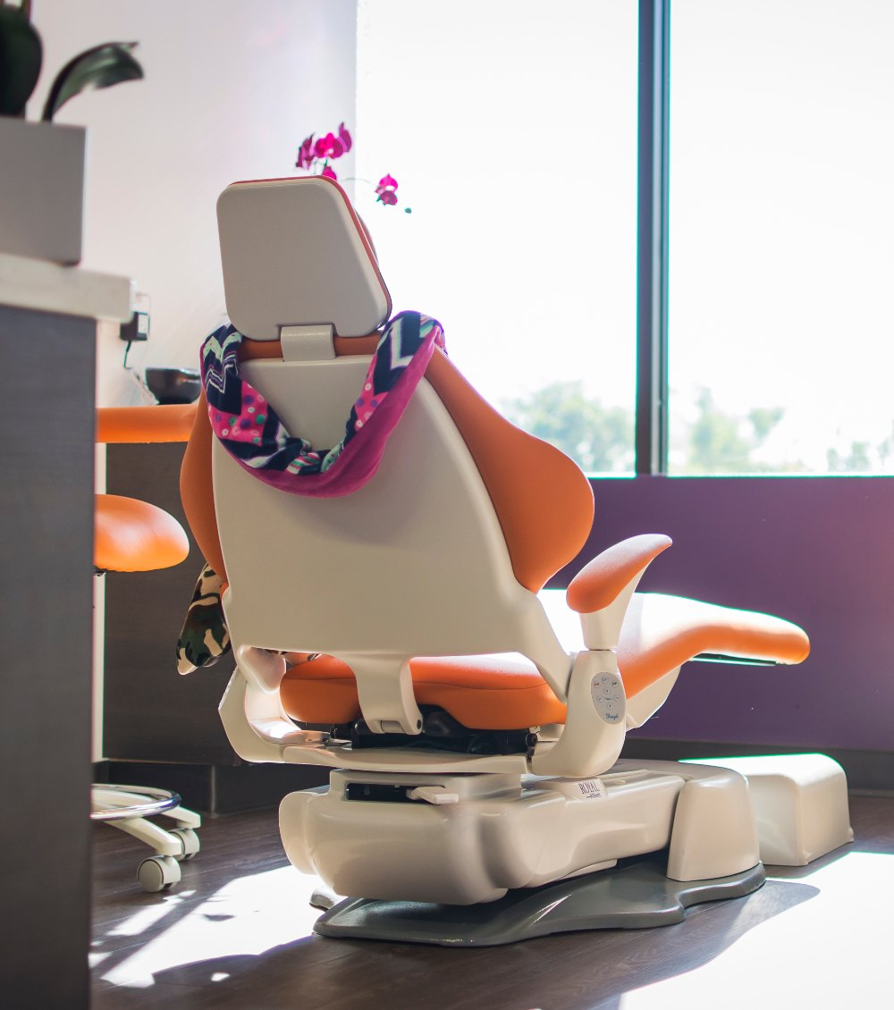 dental chair at Butler Pediatric