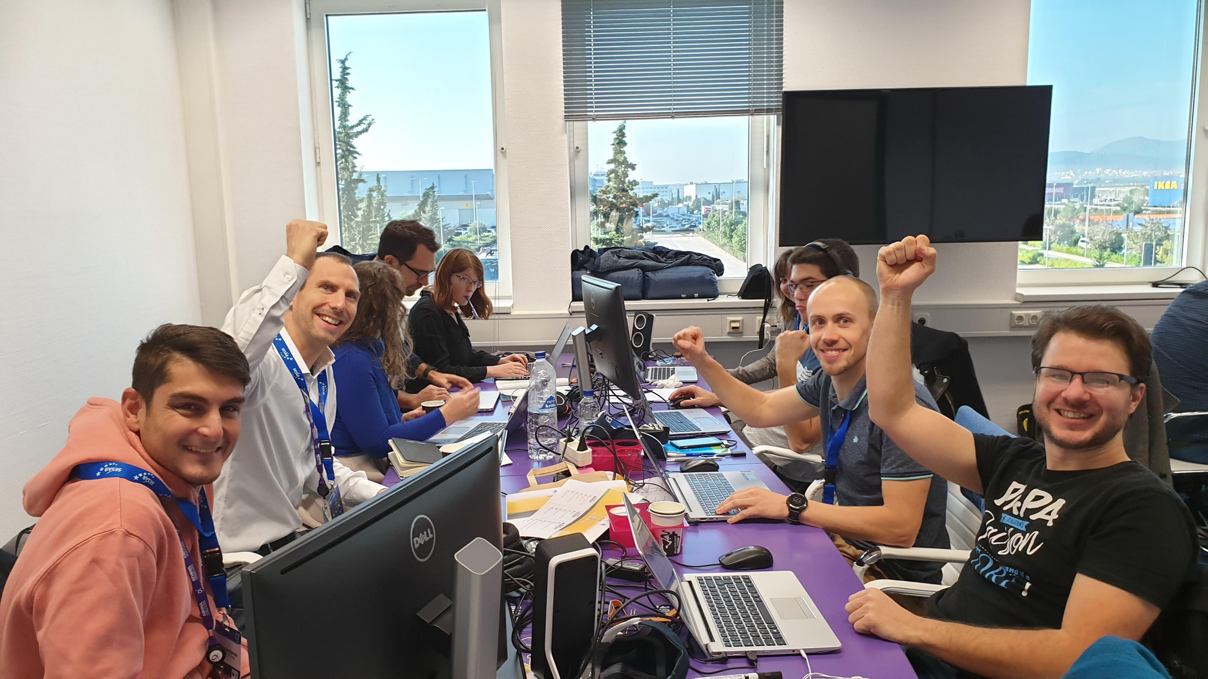 Participants at the ACI Digital Sky Challenge