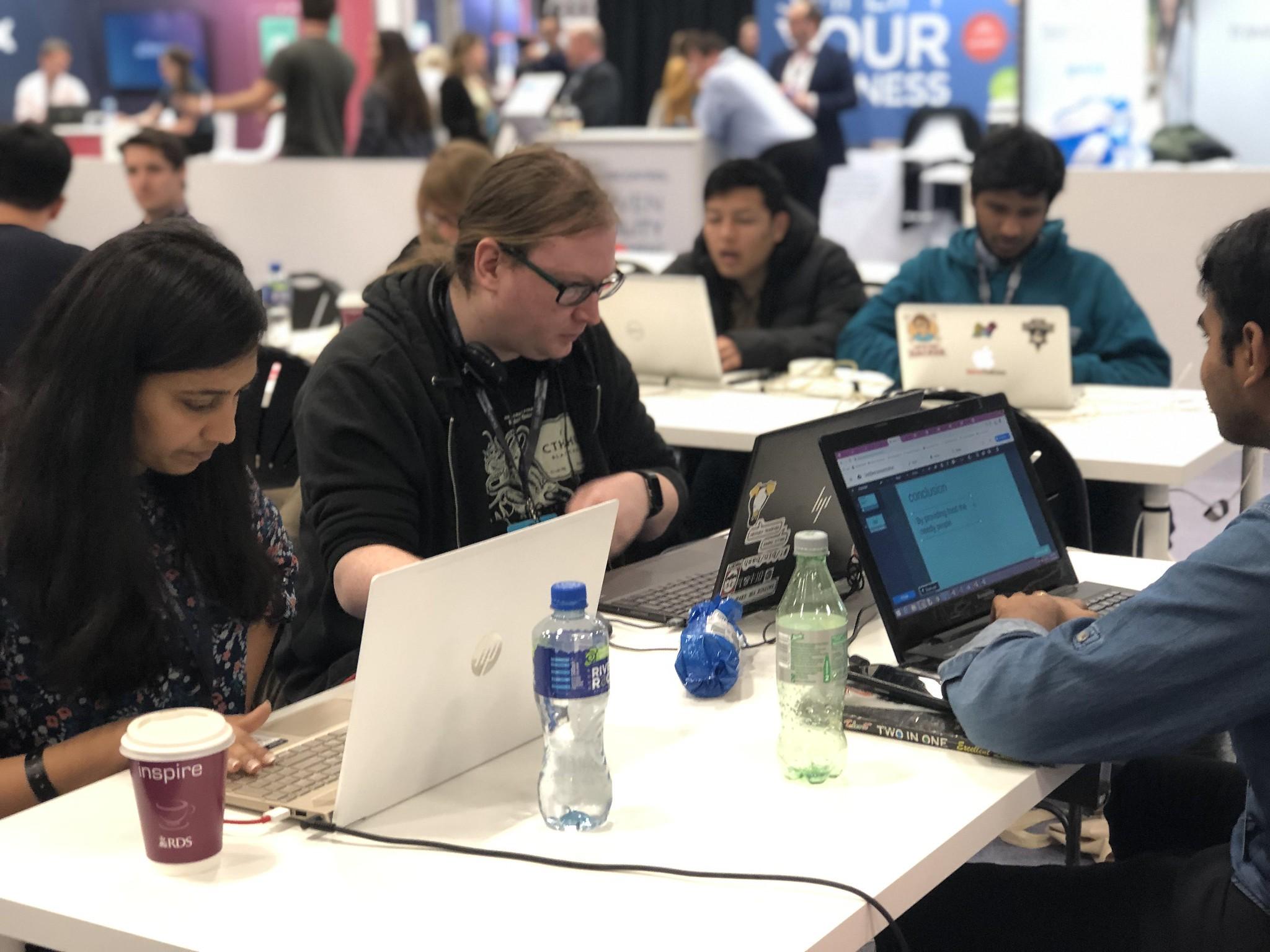 Participants at the Jobbio Codefest hackathon