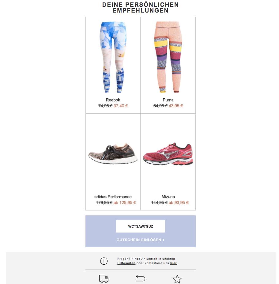Zalando email promotion example-2