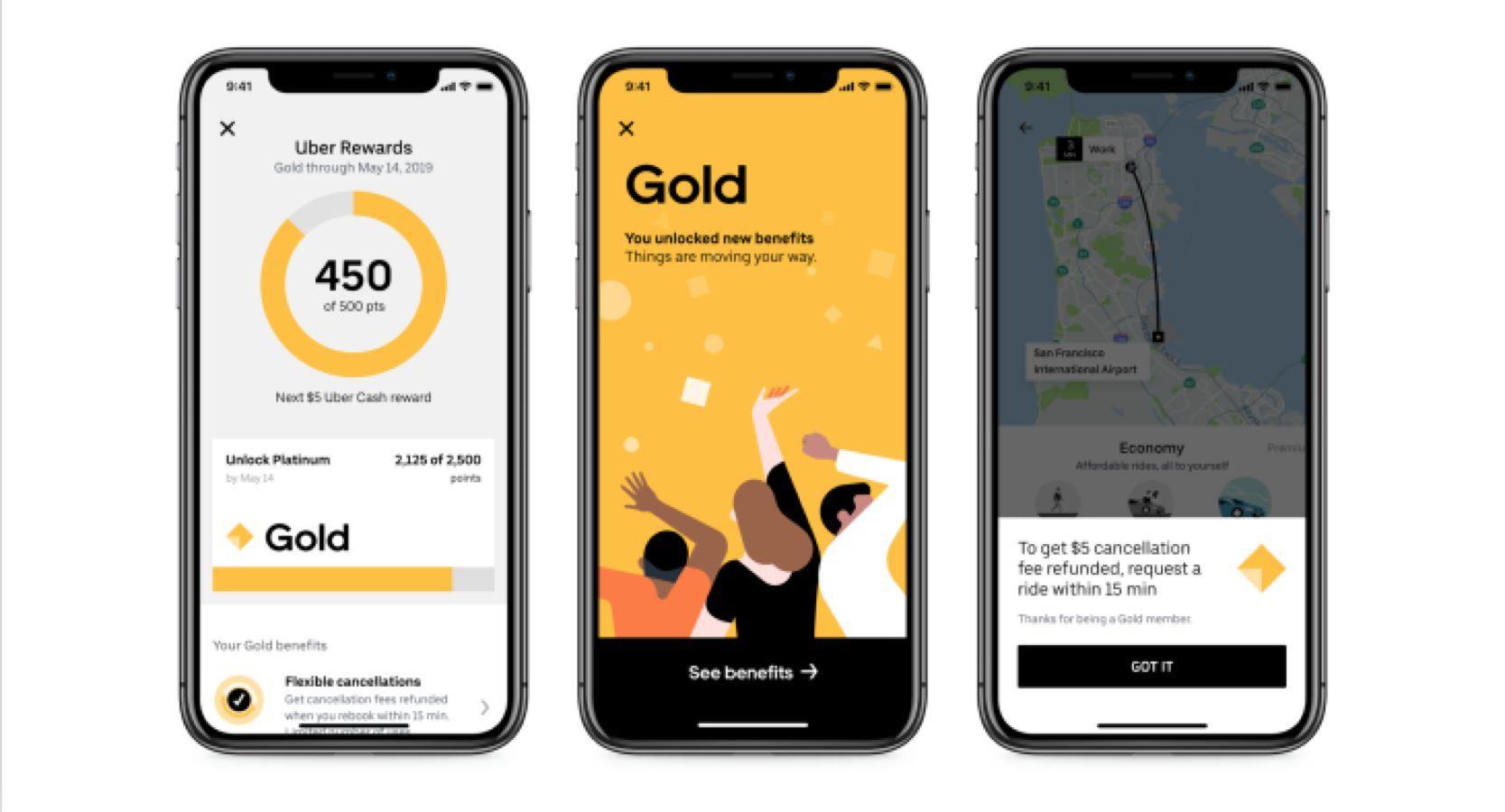 Uber Rewards Gold Mobile version
