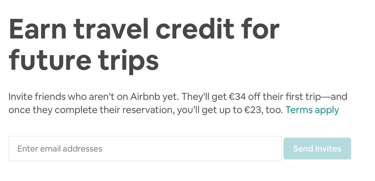 Travel credit