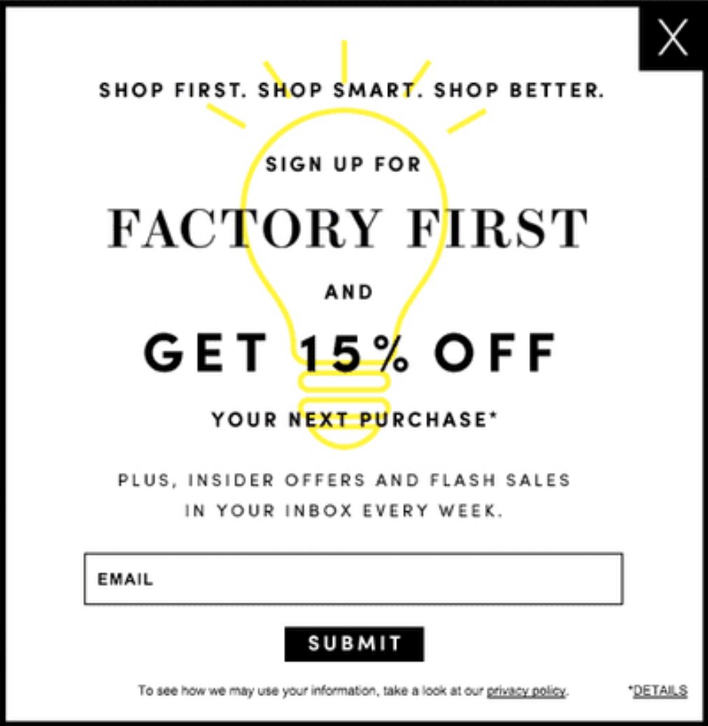 15% off with newsletter coupons