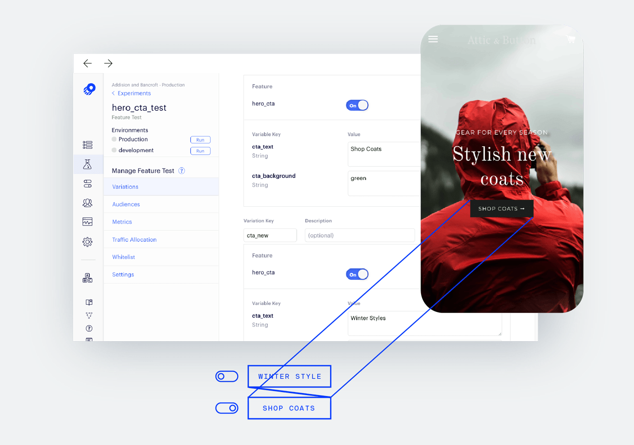 Optimizely User Interface