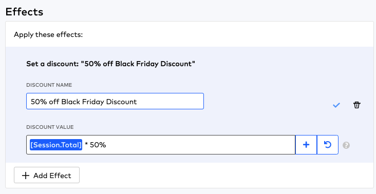 Rule Builder effects for Black Friday