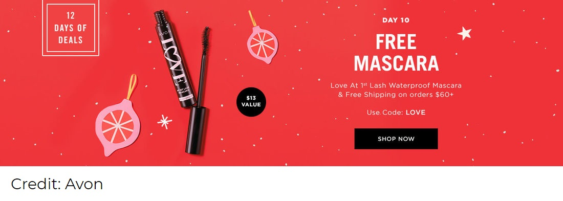 Avon Christmas promotion