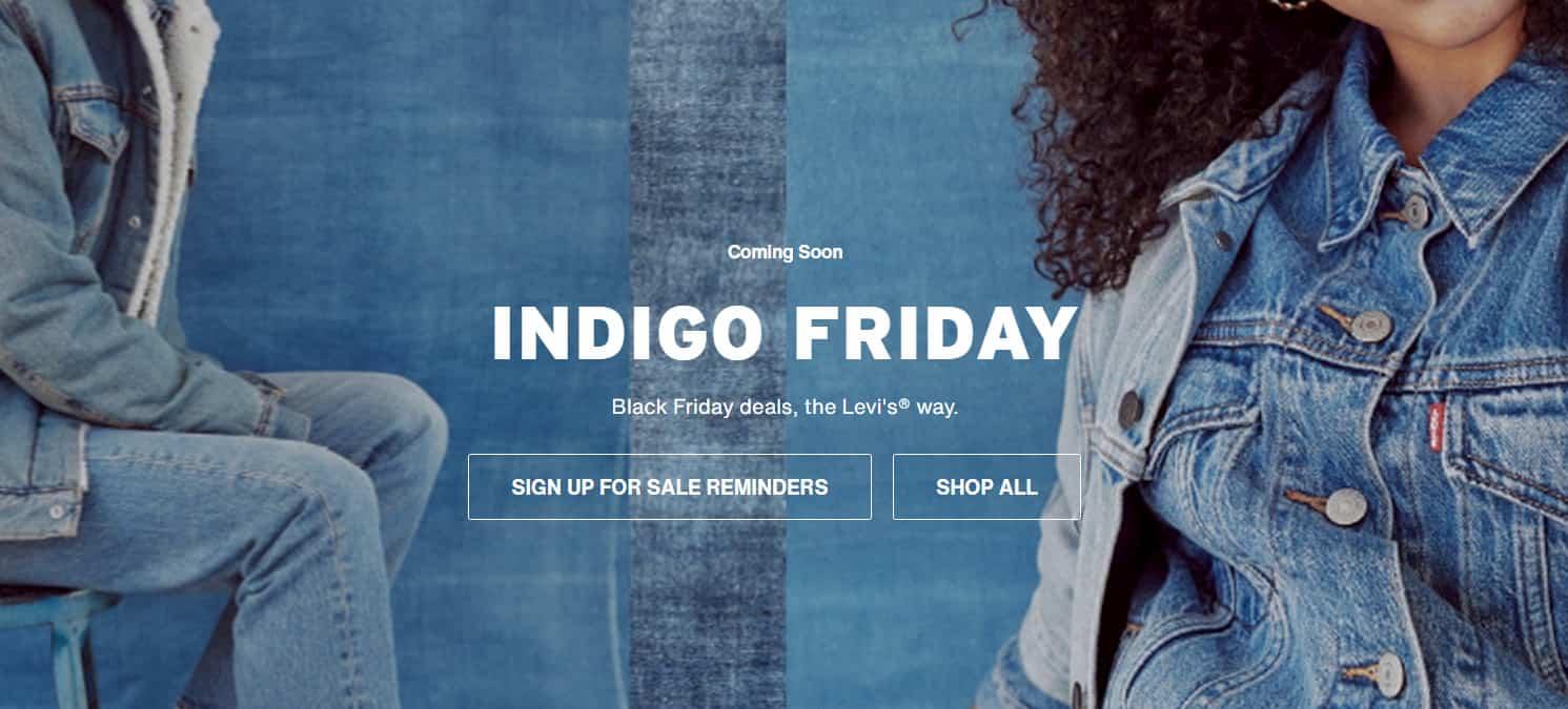 Levi's Indigo Friday deal
