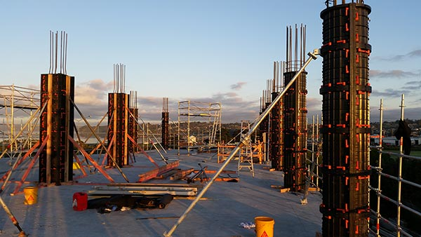 Re-usable Plastic Formwork used on new Euroclass building