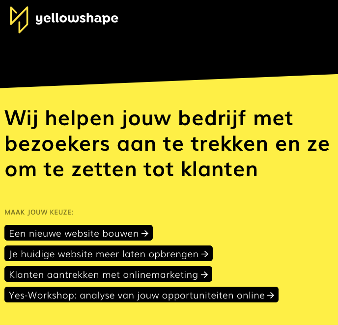Structuur van je website