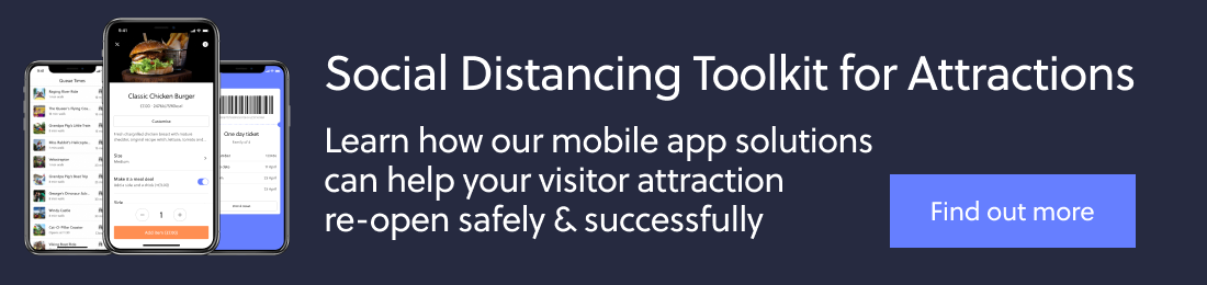 Social distancing app solutions for attractions