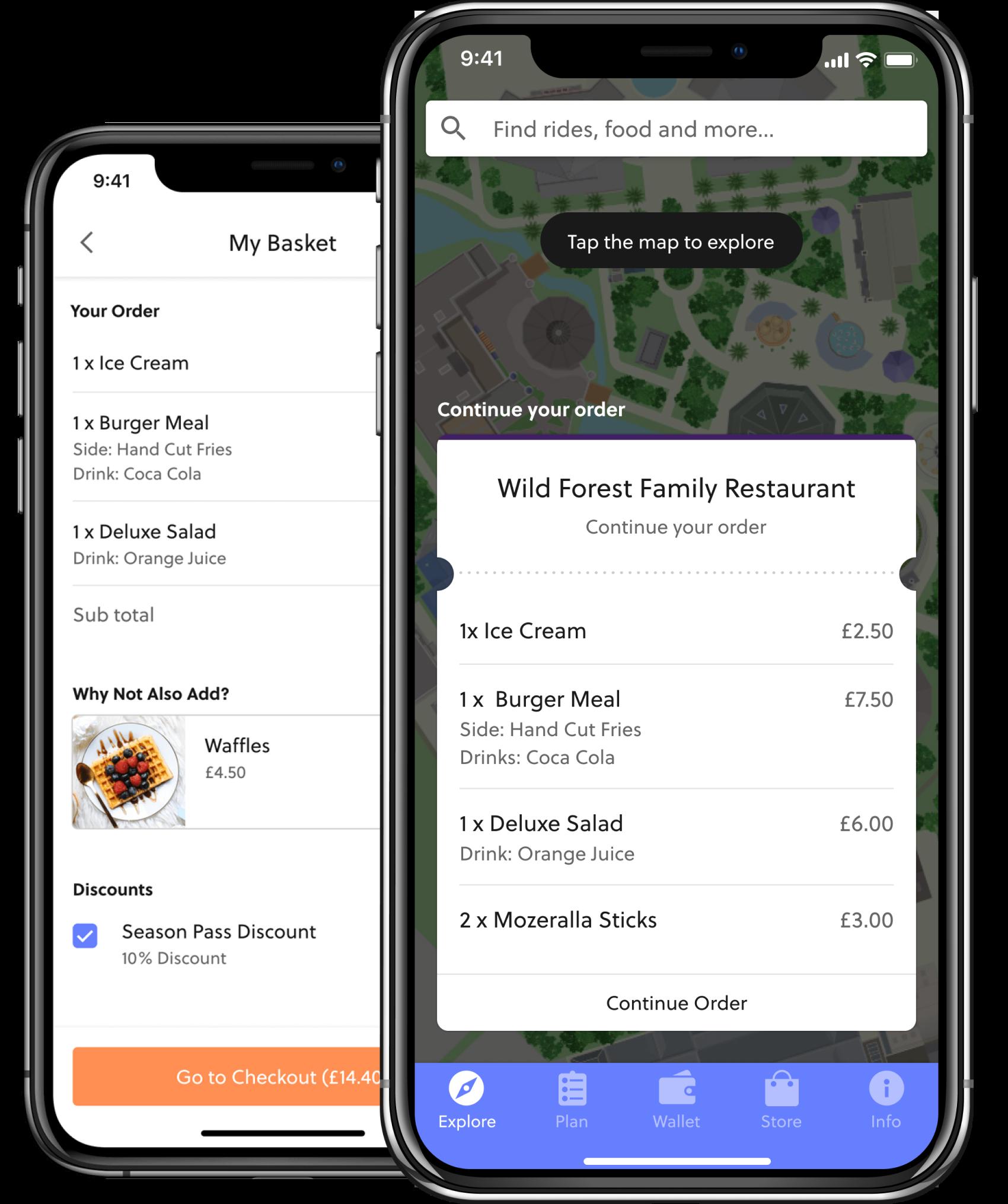 In-app food and beverage revenue