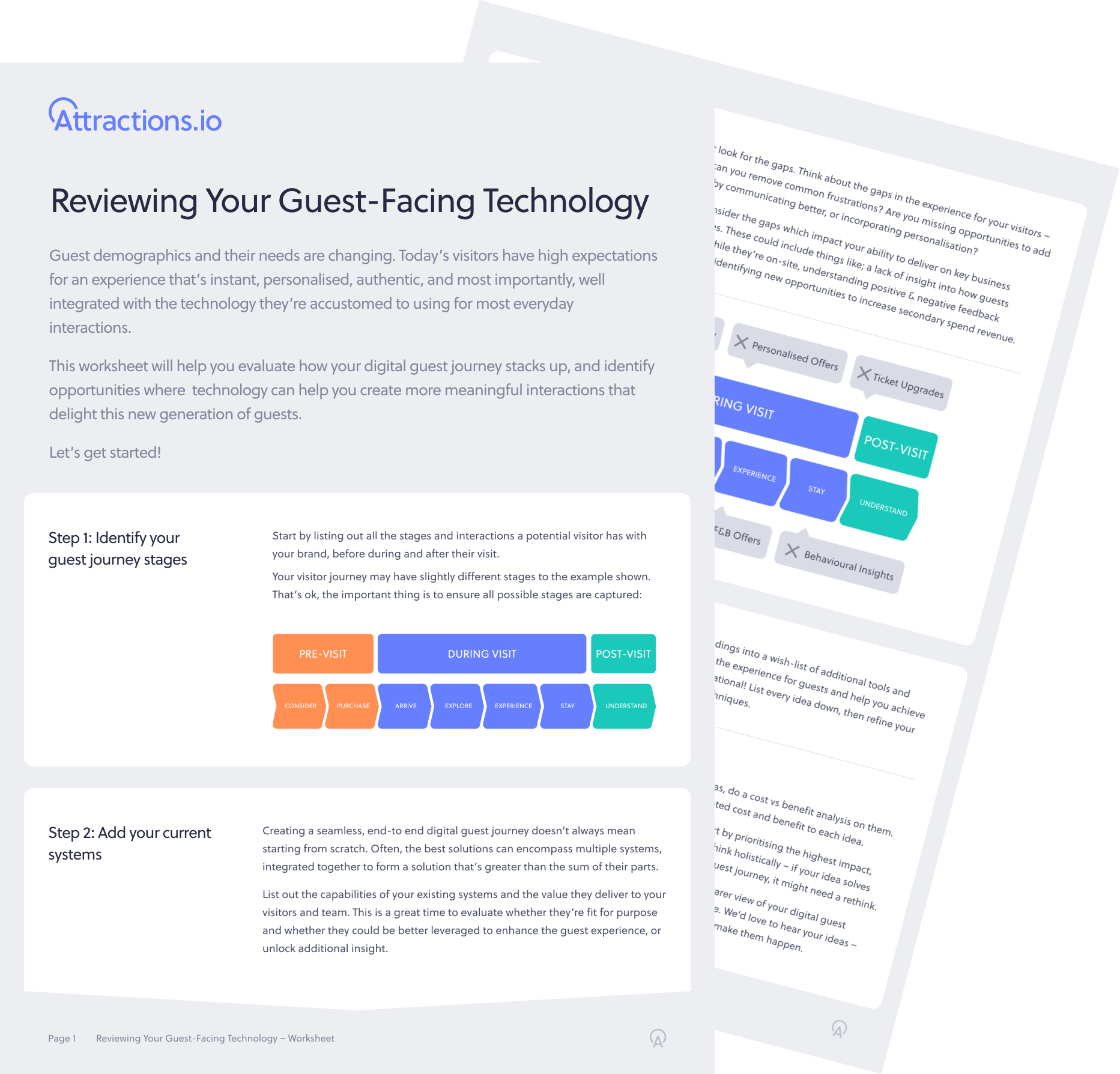 Reviewing your guest facing technology - worksheet