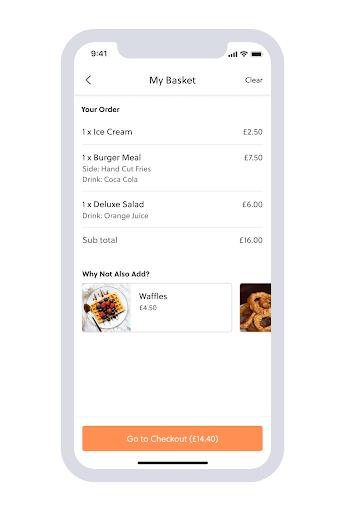 In-App Food Ordering