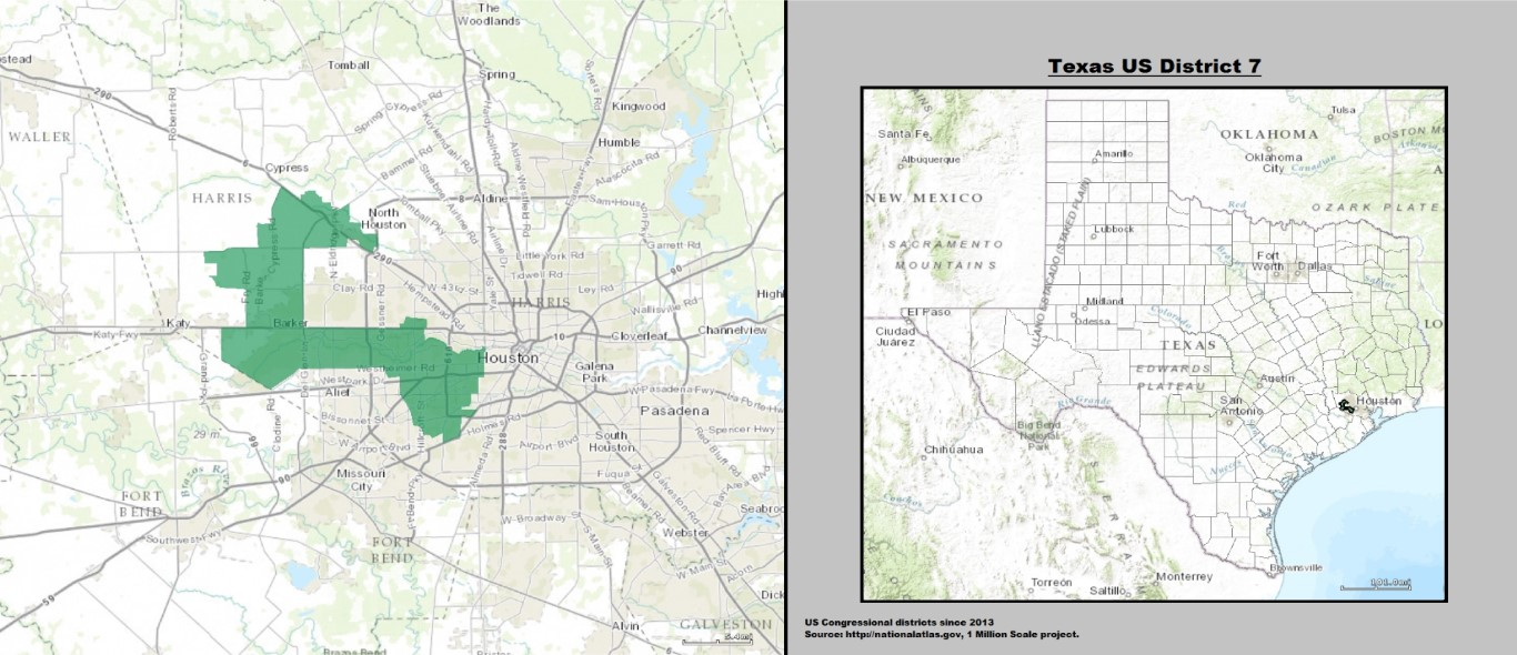 Texas District 7 Maps