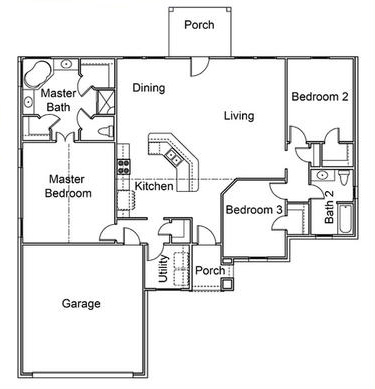 plan blueprint layout of a house