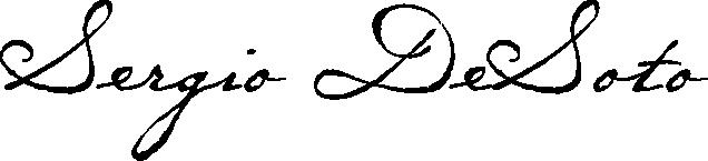 Sergio DeSoto Signature