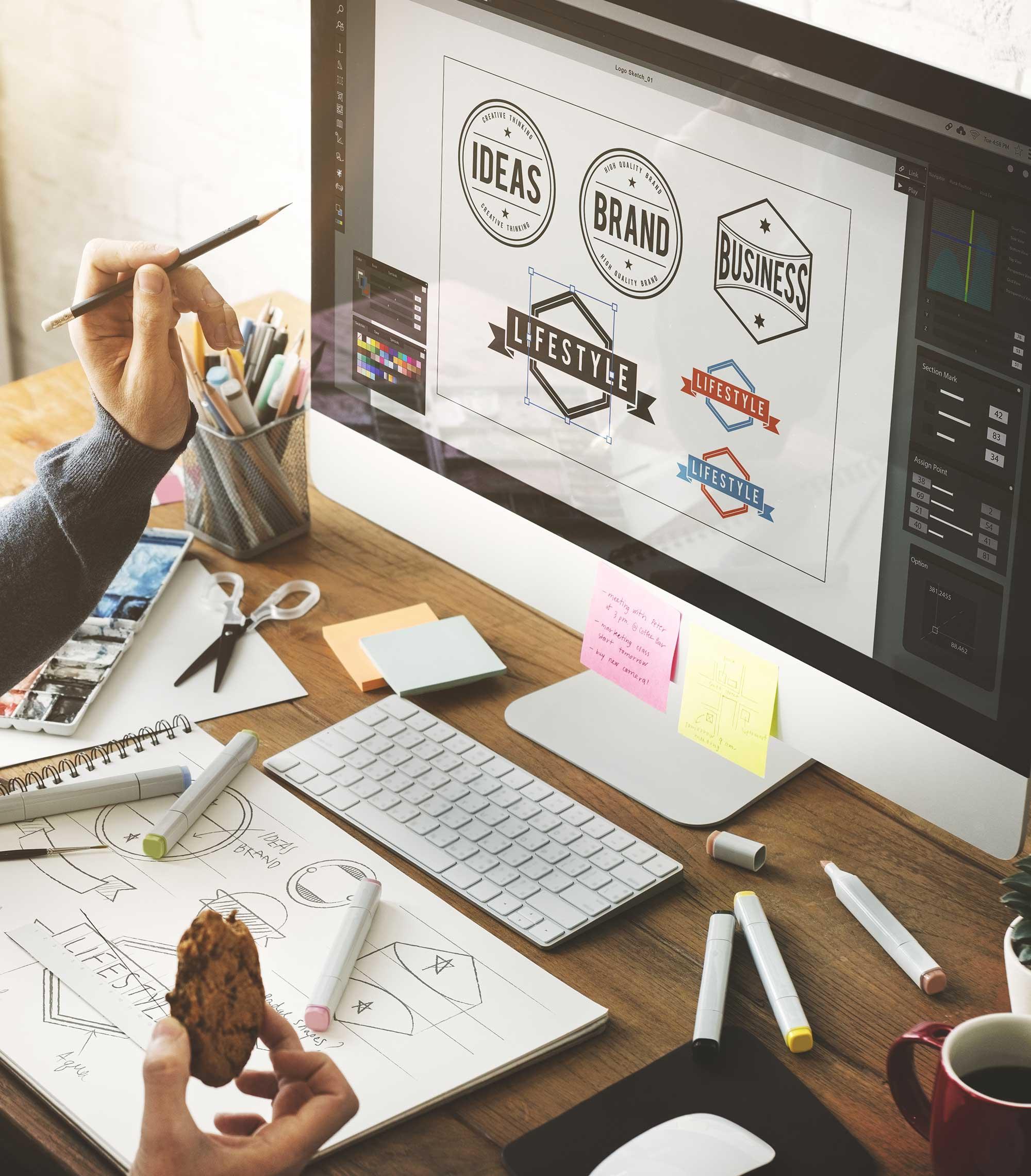 Graphic design image on a mac