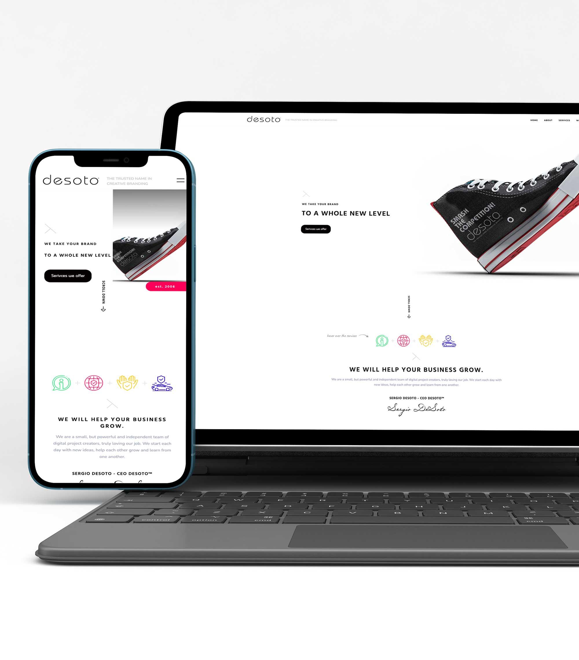 Website design by deSoto llc