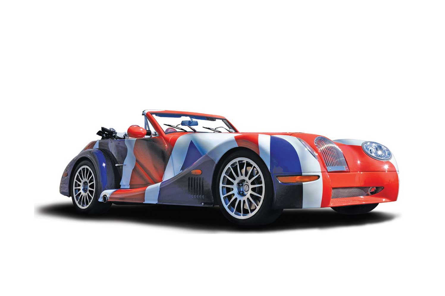 Wrapped Morgan with a british flag