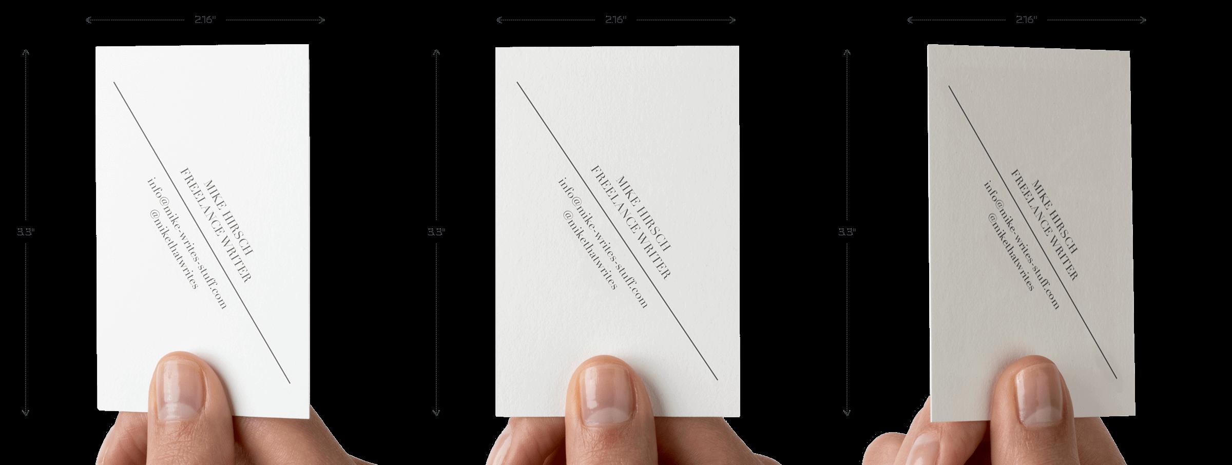 2.16″ x 3.3″ Cotton Business Cards