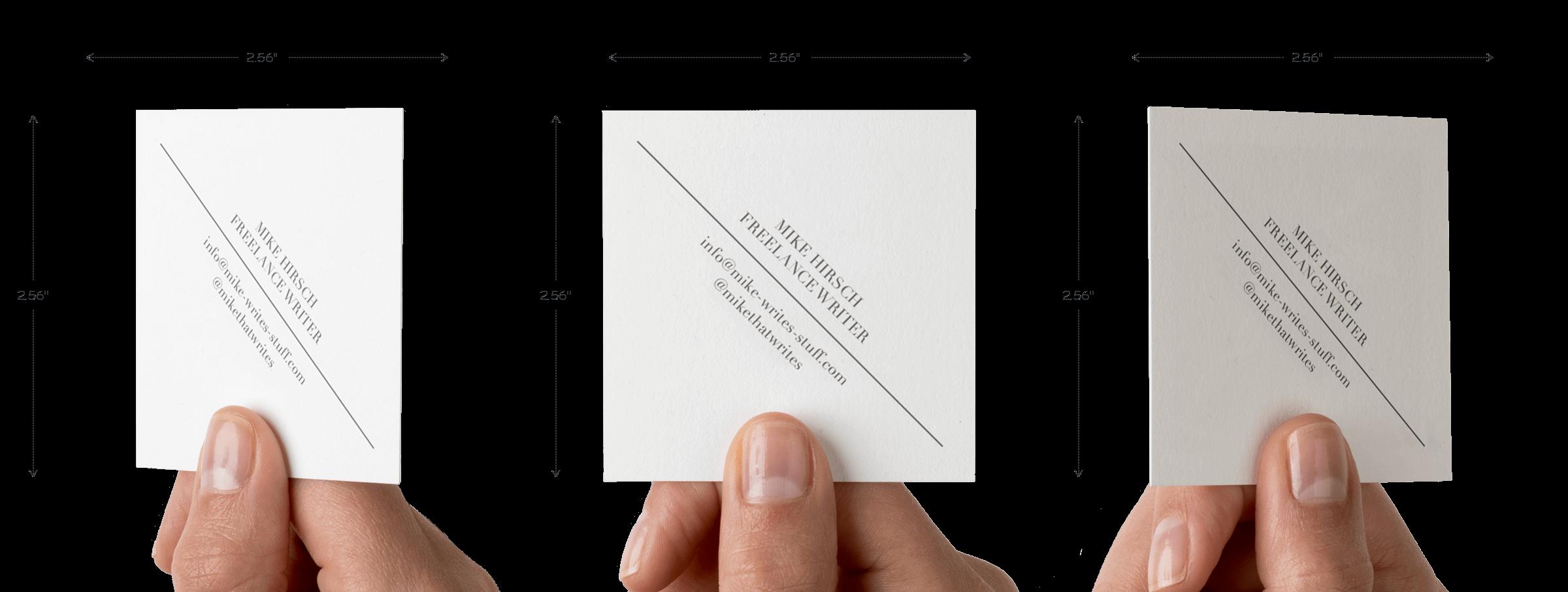 Square 2.56″ x 2.56″ Cotton Business Cards