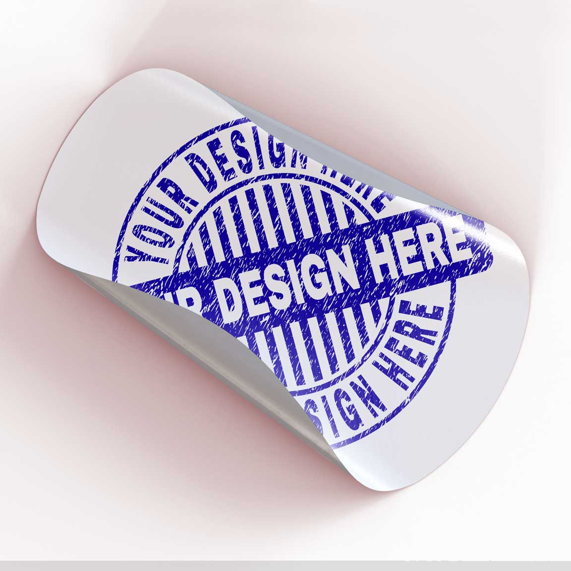 Premium decals die-cut into the shape of a circle.