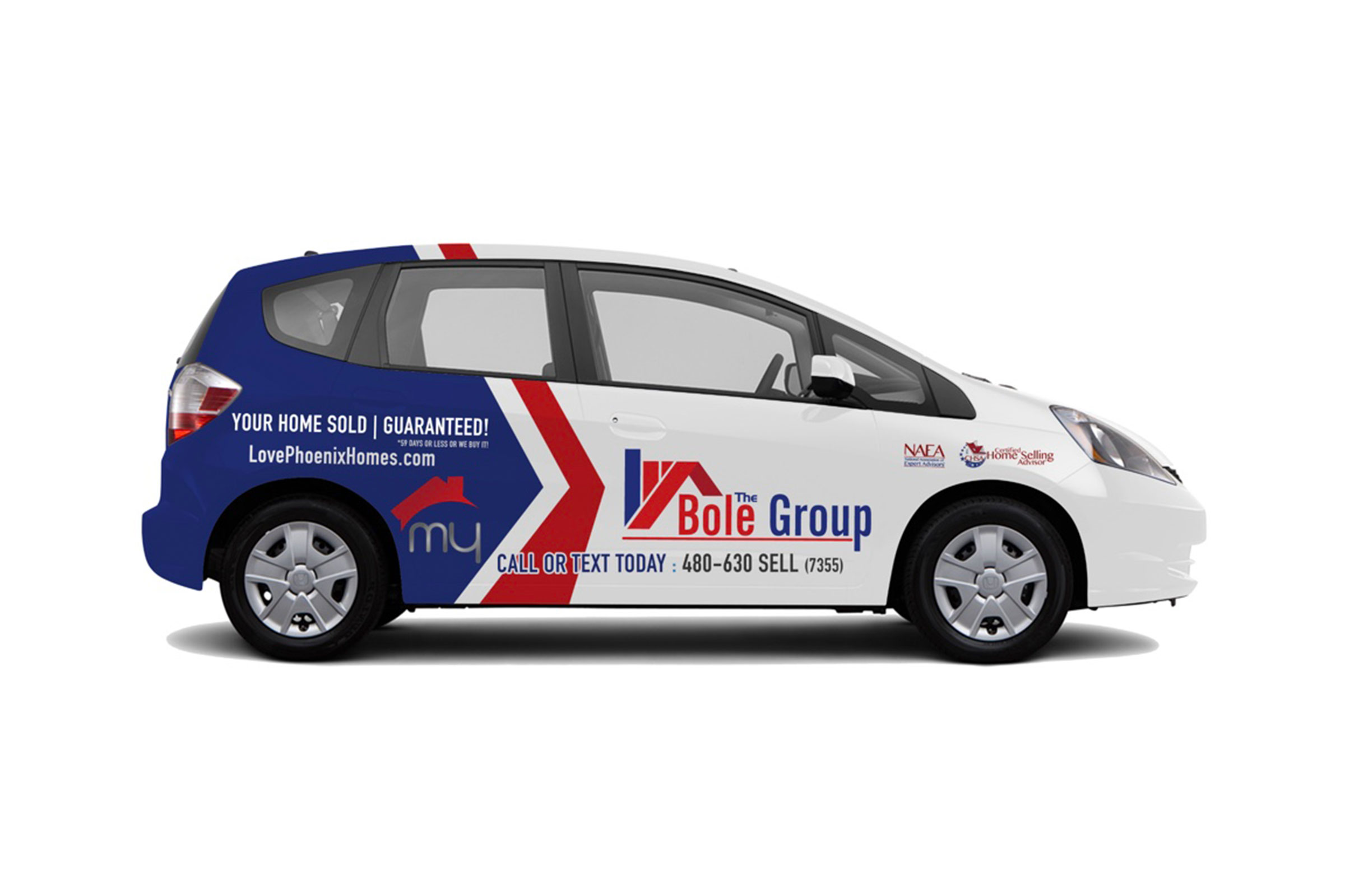 Vehicle wrap project for The Bole Group