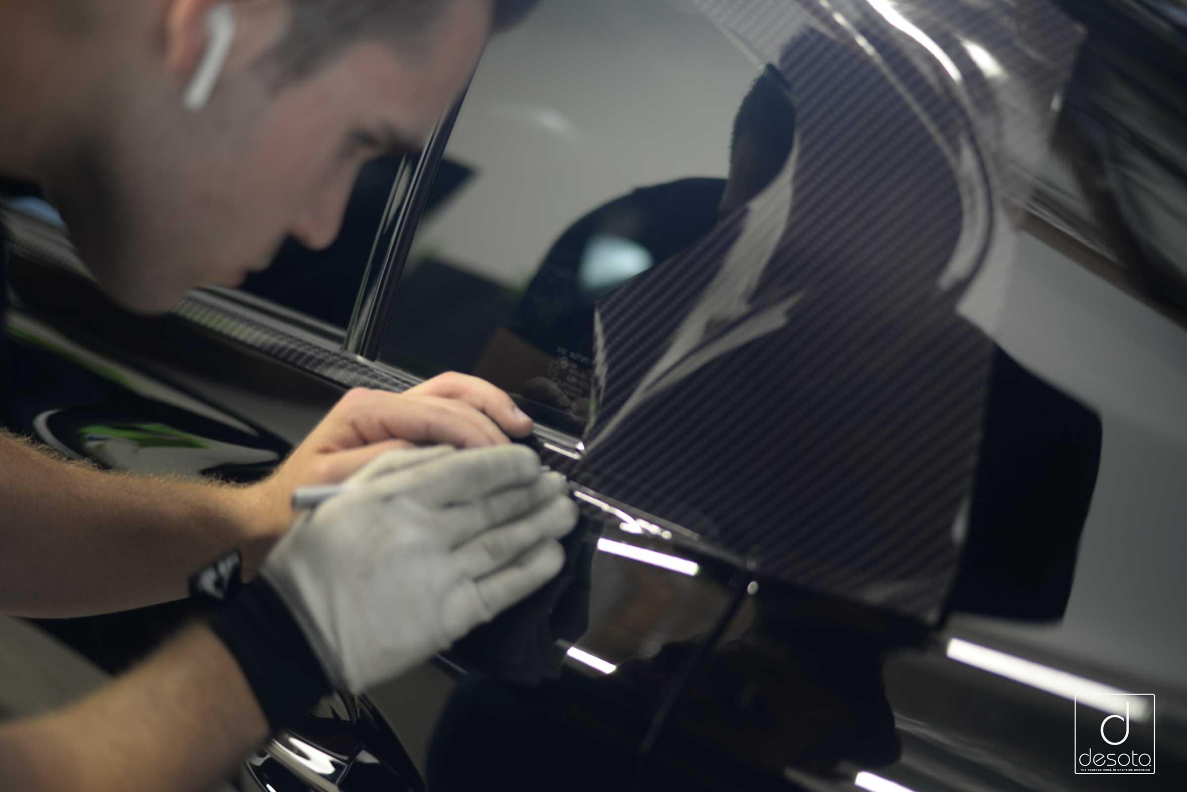 Carbon Fiber accents on a Lexus