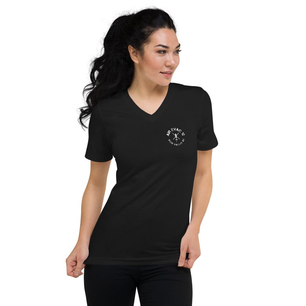 Air Evac 12 Women's Short Sleeve V-Neck T-Shirt