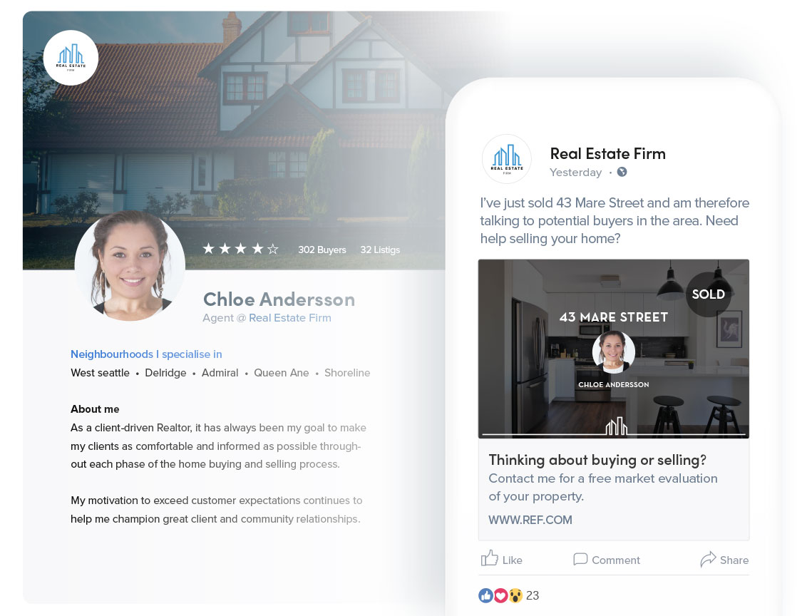 Adfenix Agent Booster – social media ads for real estate agents to promote their personal brand