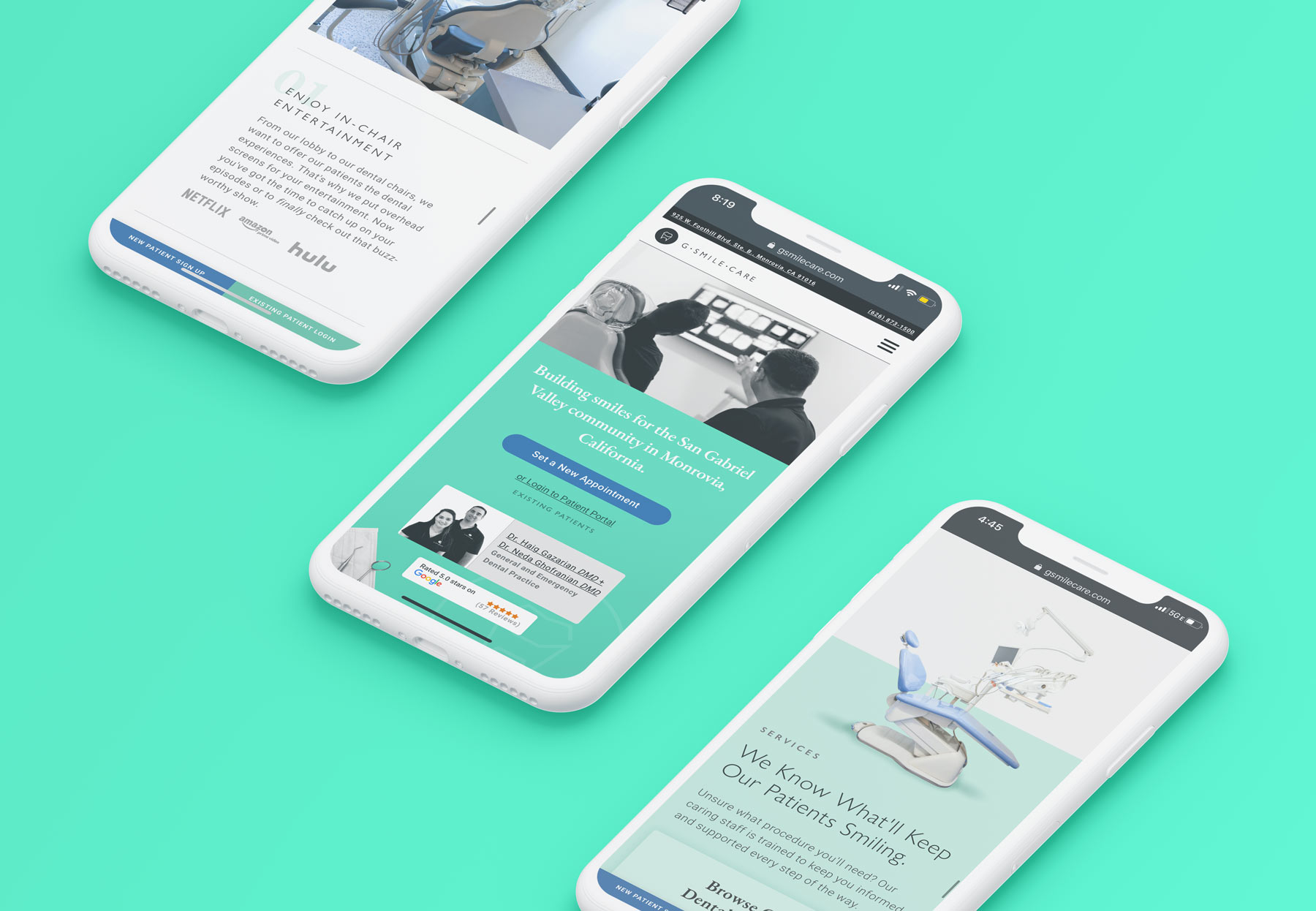 G Smile Care Website Responsive on Phone